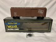 ✅weaver 2-rail Platteville And Calamine 40' Steel Side Box Car O Scale Freight