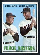 1967 Topps 423 Willie Mays Willie Mccovey Nr-mt Centered 407321 Kycards