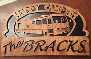 Personalize Wooden Class A Rv Sign - Happy Campers 98