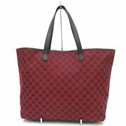 Sale Secondhand Gg Canvas Tote Bag Rank 238696 Red Women 's No.8925