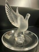 Lalique France Thalie Dove Ring Dish
