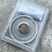 ✪ 1907 Canada 10 Cent Silver Coin Dime Pcgs Ms Gem 65 - Blue Toning