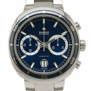 Rado D-star 200 Chronograph R15966203 Automatic Blue Dial Stainless Men's