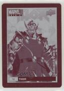 2019 Upper Deck Marvel Annual Variant Cover Printing Plate Magenta 1/1 Thor 00cy
