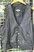 Harley Davidson Pathway Leather Vest - Menand039s Large - Good Condition