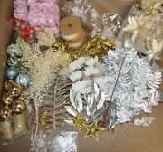 Huge Lot Of New Christmas Decorations - Silver And Gold - Nativity - Look