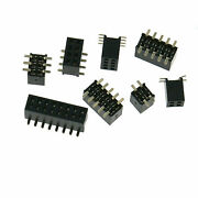 1.27mm Pitch Double Row Smd Female Pin Header 2x2p/3/4/5/6/7/8/10/12/20/40p
