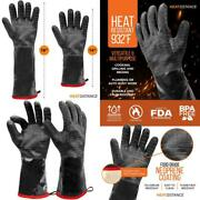 Heat Resistant Bbq Gloves Grill Oven Mitts Protective Cooking Tool Grilling Use