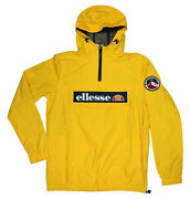 Ellesse Heritage Mont Collection 1/4 Zip Pullover Hooded Rain Coat Jacket Nwt M