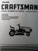 Sears Craftsman 13.0 H.p 6-sp 42 Lawn Tractor Owner And Parts Manual 917.252502