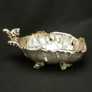 Victorian Silverplate Squirrel Nut Bowl By Pairpoint Mfg. Co. Circa 1870
