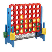 Ecr4kids Jumbo 4-to-score Game Set With Carry Bag And Ring Net, 4-in-a-row Game