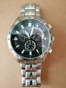 Citizen Eco-drive Solar Radio Clock At3000-59a Chronograph Menand039s Watch