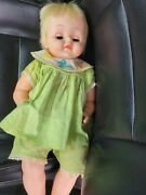 Vintage 1963 Tickles Battery Operated Laughing Doll 20 By Deluxe Reading