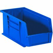 Aviditi Plastic Stack/hang Storage Bin Containers 18 X 8-1/4 X 9 Inches Blue ...