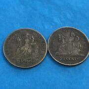 Guatemala 2 Silver Coins , 1898 2 Reales, 1893 25 Cents