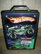 Hot Wheels Monster Jam Truck Storage Case Grave Digger Holds 15 Cars 3d Carrying