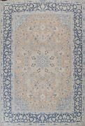 Muted Semi-antique Ardakan Handmade Area Rug Wool Floral Oriental Carpet 10and039x13and039