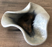 Russel Wright Bauer Manta Ray Bowl 1940s Prototype Rare Mottled Glaze Color