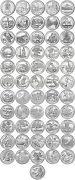 2010 - 2021 National Parks Quarters - 56 Coin Set Uncirculated W Classic Folder