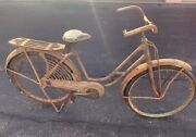 1940s Elgin Sears 26 Inch Bicycle With Side Skirts Green Original Patina