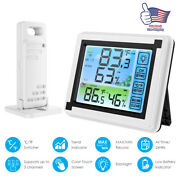 Lcd Weather Station Digital Thermometer Hygrometer Indoor Outdoor Temperature Us