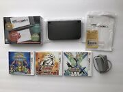 Nintendo New 3ds Xl 4gb Black System With Original Box + Charger And Games