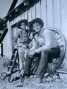 Rare Johnny Crawford Signed 8x10 Photo Chuck Connors The Rifleman Cowboy Coa
