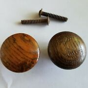 Antique Oak Drawer Pulls - Refinished Ready To Install - 1 1/2 Diameter