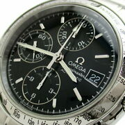 Previously Owned Omega Speedmaster Date Chronograph Oat Mens Black Dial No.7079