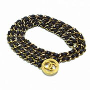 Previously Owned Belt Chain Belt Series Gold Black Metal No.5812
