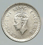 1944l India States Uk King George Vi Antique Silver 1/2 Rupee Indian Coin I91778