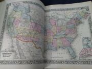 1862 Mitchellandrsquos New General Atlas Containing 50 Hand Colored Maps