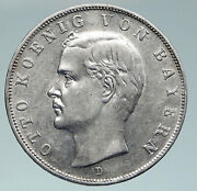 1912 D Germany German States Bavaria King Otto Silver 3 Mark Coin W Eagle I91504