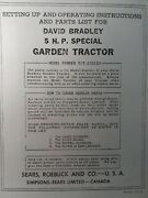David Bradley Sears 917.575120 Garden Tractor And Plow Owners And Parts 2 Manuals