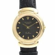 Rolex Cellini 750 Gold Battery-powered Mens Boys Computer Dial Number No.36