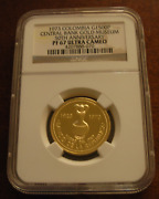 Colombia Columbia 1973 Gold 1500 Pesos Ngc Pf67uc Central Bank Gold Museum