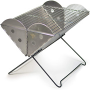 Uco Flatpack Portable Stainless Steel Grill And Fire Pit Barbeque Grill