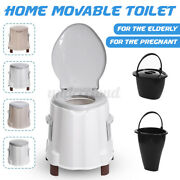 Flush Toilet Seat Portable Potty Commode Outdoor Indoor Travel Camping Hiking