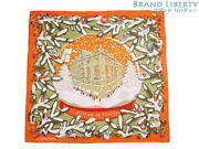 Hermes Carre 90 Noel Au 24 Faubourg Christmas At Fable Large Size Scarf No.2403