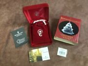 Nib Waterford Crystal 12 Days Of Christmas Five Golden Rings Ornament 1999 5thed
