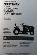 Sears Craftsman 16.0 H.p Hydro 42 Lawn Tractor Owner And Parts Manual 917.271080