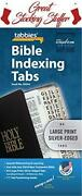 Large Print Bible Indexing Tabs - Silver Bible Indexing Tabs