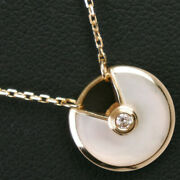 Amulet K18 Yellow Gold Diamond Women And039s Necklace Previously No.5035