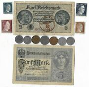 Rare Old Wwi Wwii Germany War Coin Note Ww2 German Collectible Collection Lot C3