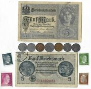 Rare Old Wwi Wwii Germany War Coin Note Stamp German Collectible Collection C12