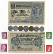 Rare Old Wwi Wwii Germany War Coin Note Stamp German Collectible Collection C15