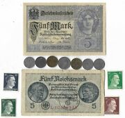 Rare Old Wwi Wwii Germany War Coin Note Stamp German Collectible Collection C18