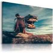 Horse Domestic And Wild Animals Canvas Wall Art Picture Large Sizes An88 X