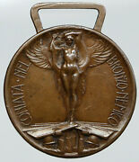 1918 Italy Soldier And Angel World War I Vintage Italian Tribute Old Medal I91816